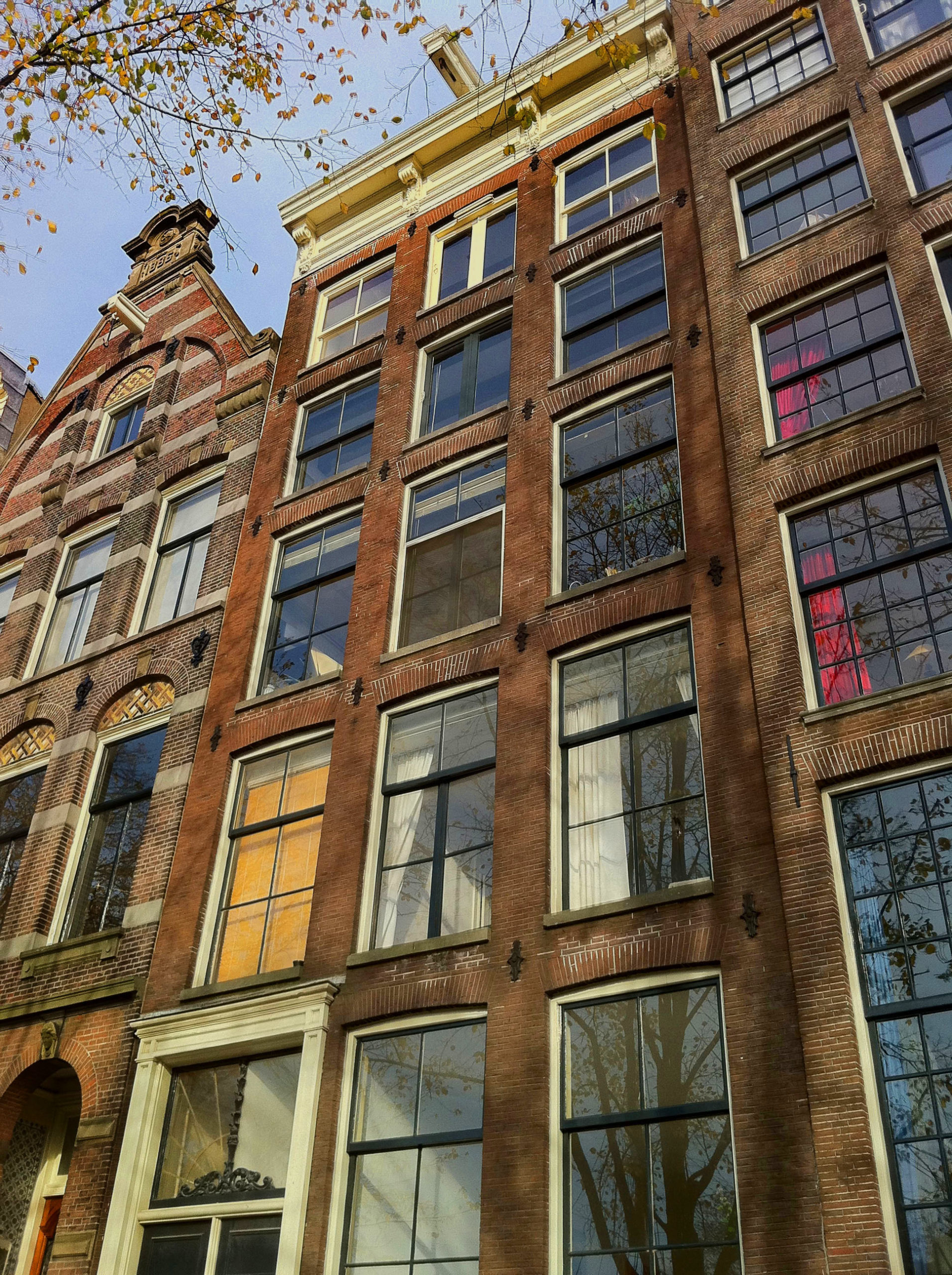 Amsterdam canal house exterior